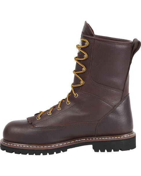 "Georgia Waterproof 8"" Low Heel Logger Work Boots, Chocolate, hi-res"