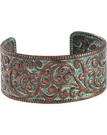 Shyanne Women's Copper Patina Cuff Bracelet, , hi-res