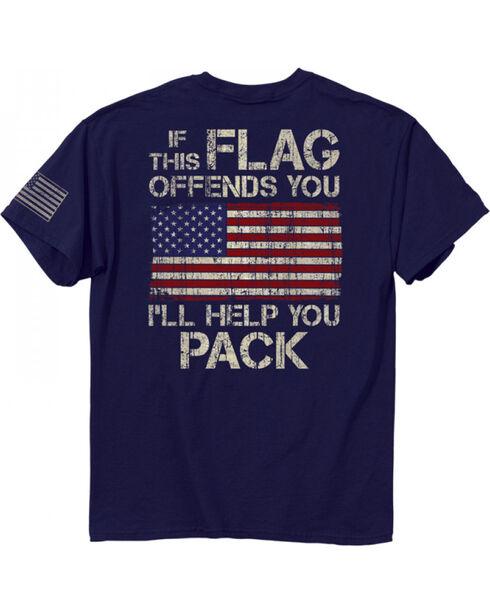 Buckwear Men's Flag Graphic Tee, Navy, hi-res