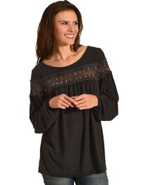 Angel Premium Women's Karlynn Top, Black, hi-res