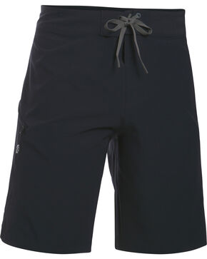 Under Armour Men's Light Grey Solid Board Shorts, Black, hi-res