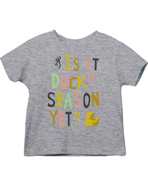 Browning Toddler Girls' Grey Ducky Season Short Sleeve Tee , Grey, hi-res