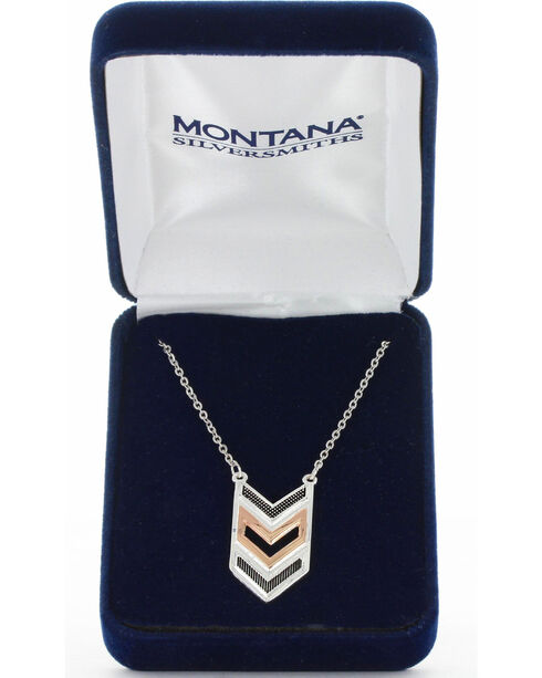 Montana Silversmiths Women's Chevron Strength Necklace, No Color, hi-res