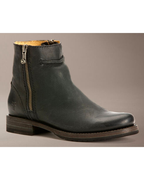 Frye Veronica Seam Short Boots, Black, hi-res