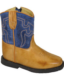 Smoky Mountain Toddler Boys' Blue Autry Western Boots - Square Toe , , hi-res
