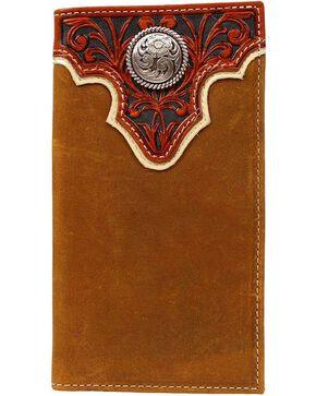 Ariat Men's Rodeo Bi-Fold Checkbook Wallet, Light Brown, hi-res