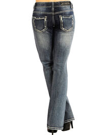 Rock & Roll Cowgirl Women's Indigo Low-Rise Jeans - Boot Cut , , hi-res