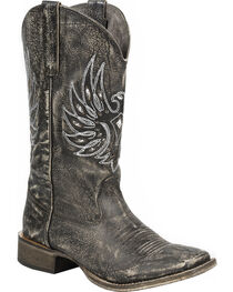 Roper Women's Sanded Eagle Wings Western Boots, , hi-res