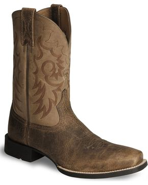 "Ariat Men's Heritage Reinsman 11"" Western Boots, Earth, hi-res"