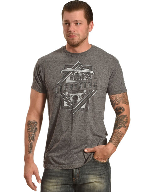 Moonshine Spirit® Men's White Lightning Graphic Tee, Charcoal, hi-res