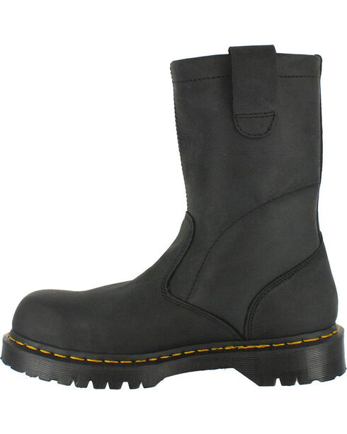 Dr. Martens Men's Icon Ex Wide Wellington Work Boots - Steel Toe, Black, hi-res