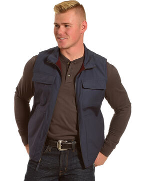 American Worker Men's Reversible Major Canvas Vest, Navy, hi-res