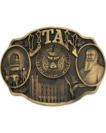 Montana Silversmiths Utah State Heritage Attitude Belt Buckle, , hi-res