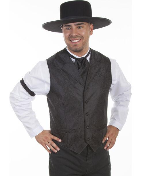 Scully Men's Paisley Western Vest , Black, hi-res