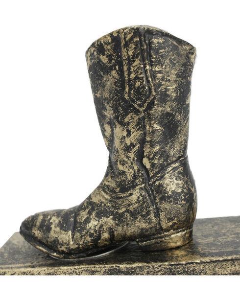 Demdaco Black Cowboy Boot Door Stopper , Black, hi-res