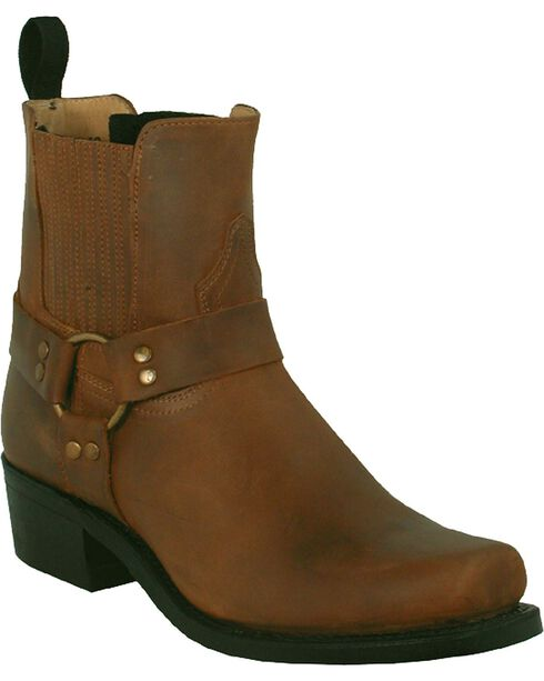 "Boulet Men's 9"" Motorcycle Harness Boots, Golden Tan, hi-res"