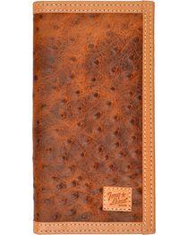 Tony Lama Ostrich Print Rodeo Wallet, , hi-res