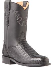 El Dorado Men's Caiman Belly Roper Boots - Round Toe, , hi-res