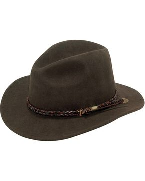 Twister Omaha Crushable Felt Hat, Brown, hi-res