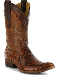 Corral Men's Caiman Laser Cut Square Toe Western Boots, , hi-res
