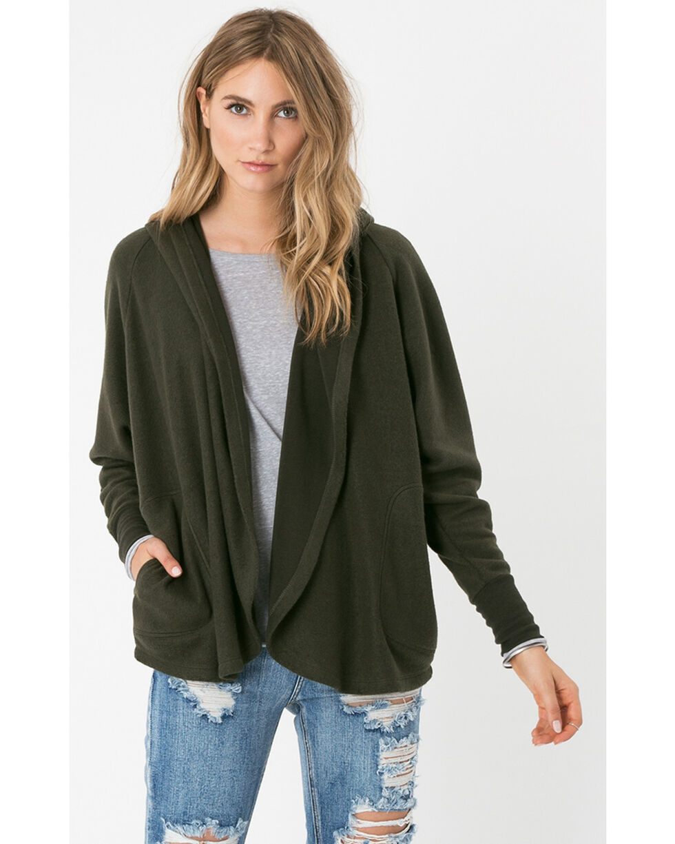 Z Supply Women's Rosin The Loft Cardigan , Olive, hi-res