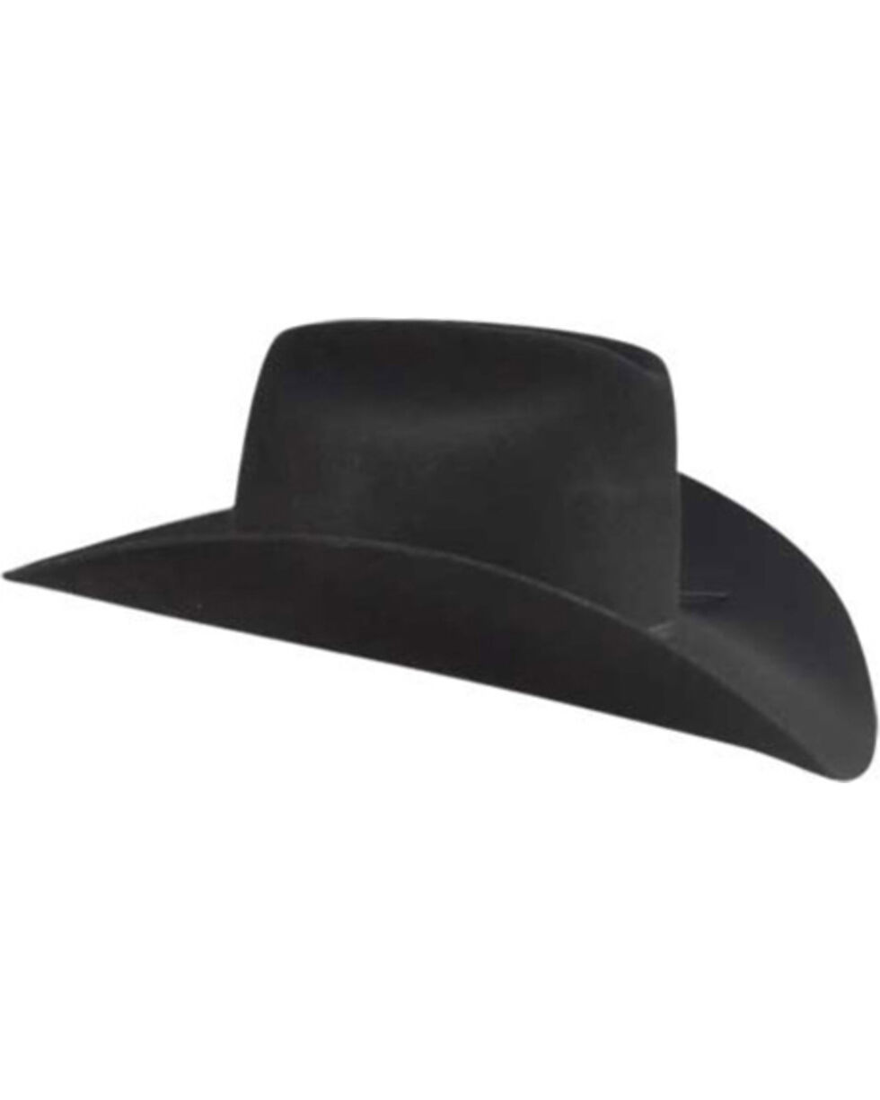 Bailey Western Stampede Cattleman Crown Cowboy Hat, Black, hi-res