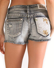 Grace in LA Women's Camo Denim Shorts, , hi-res