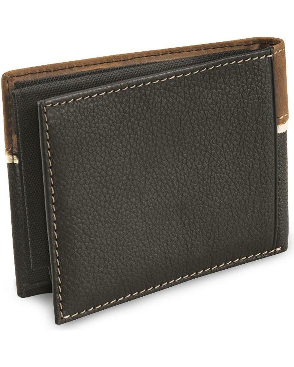 Nocona Star Concho Bi-Fold Leather Wallet, Black, hi-res