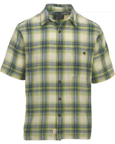 Woolrich Men's Chill Out II Seersucker Plaid Shirt , Green, hi-res