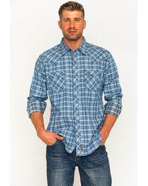 Wrangler Retro Men's Plaid with Overprint Premium Long Sleeve Snap Shirt, , hi-res