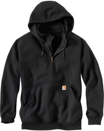 Carhartt Rain Defender Paxton Hooded Zip Mock Sweatshirt - Big & Tall, , hi-res