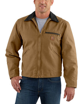 Carhartt Men's Sandstone Detroit Blanket Lined Jacket, Brown, hi-res
