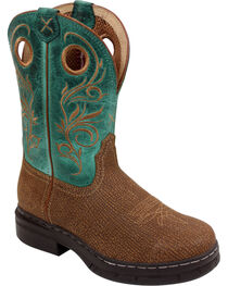 Twisted X Women's Brown Rider Pull On Boots - Steel Toe , , hi-res