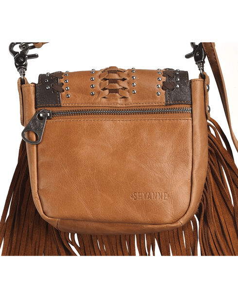 Montana West Women's Brown Leather Fringe Crossbody Bag , Brown, hi-res