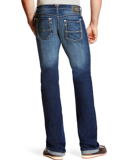 Ariat Men's M7 Rocker TEKStretch Denim Jeans - Boot Cut, Blue, hi-res