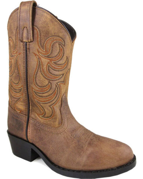 Smoky Mountain Youth Boys' Tan Otis Leather Boots - Round Toe , Tan, hi-res