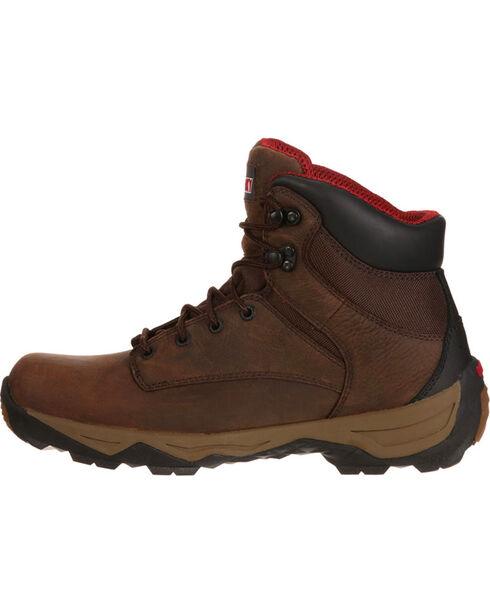 Rocky Boot Men's Retraction Waterproof Work Boots, Brown, hi-res