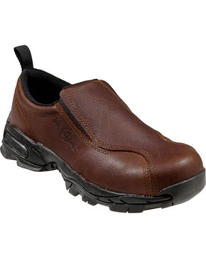 Nautilus Men's ESD Slip On Work Shoes, Brown, hi-res