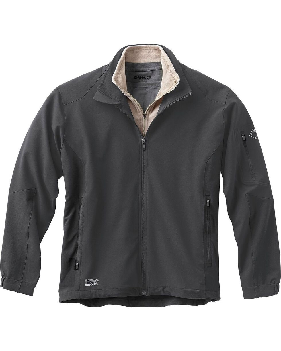 Dri Duck Men's Baseline Softshell Jacket, Dark Grey, hi-res