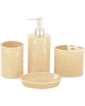 HiEnd Accent Four-Piece Savannah Bathroom Set, Cream, hi-res
