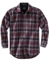 Pendleton Men's Grey and Red Ombre Lodge Shirt , , hi-res