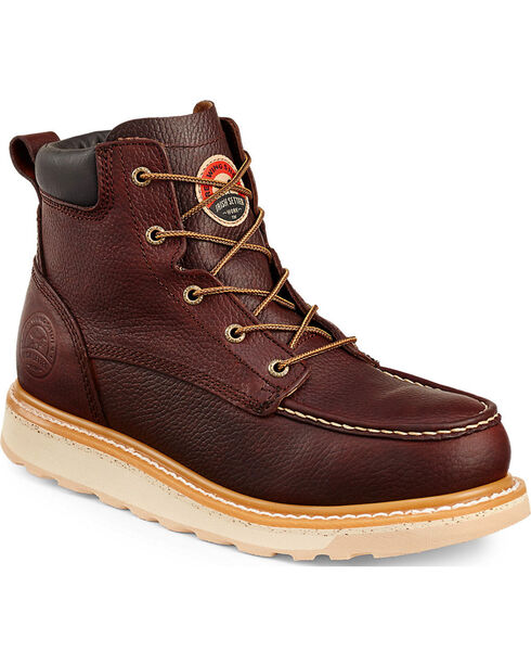 "Red Wing Irish Setter Ashby 6"" Work Boots - Round Toe , Brown, hi-res"