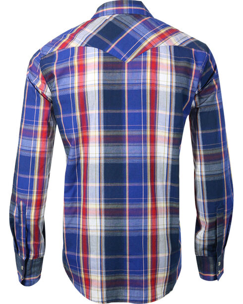 Levi's Men's Long Sleeve Plaid Shirt, Blue, hi-res