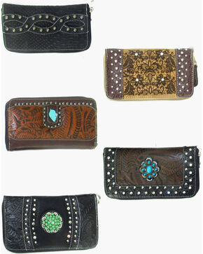 Savana Women's Assorted Concho Wristlet Wallet, Multi, hi-res