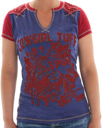 Cowgirl Tuff Women's Graphic Screen Tee, , hi-res