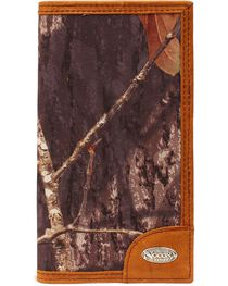 Nocona Mossy Oak Print Logo Concho Checkbook Wallet, , hi-res