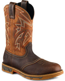 Red Wing Irish Setter Marshall Western Work Boots - Steel Toe , , hi-res