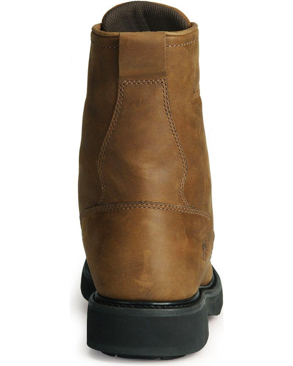 """Wolverine Men's Ingham 8"""" Kiltie Durashocks Work Boots, Dark Brown, hi-res"""