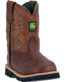 John Deere Toddler Boys' Mid-Calf Pull On Boots - Round Toe , , hi-res