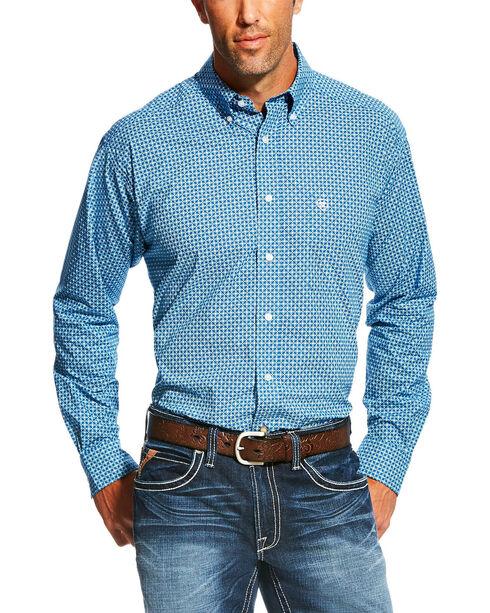 Ariat Men's Fraiser Long Sleeve Button Down Shirt - Big , Blue, hi-res